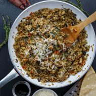 Carrot, Leek, and Mushroom Risotto