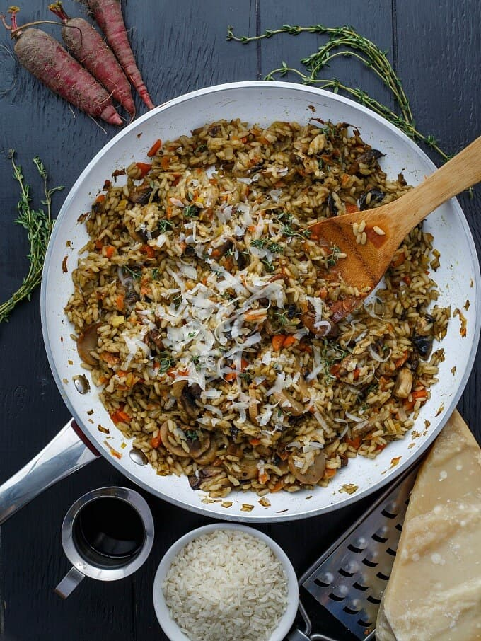 Carrot, Leek, and Mushroom Risotto