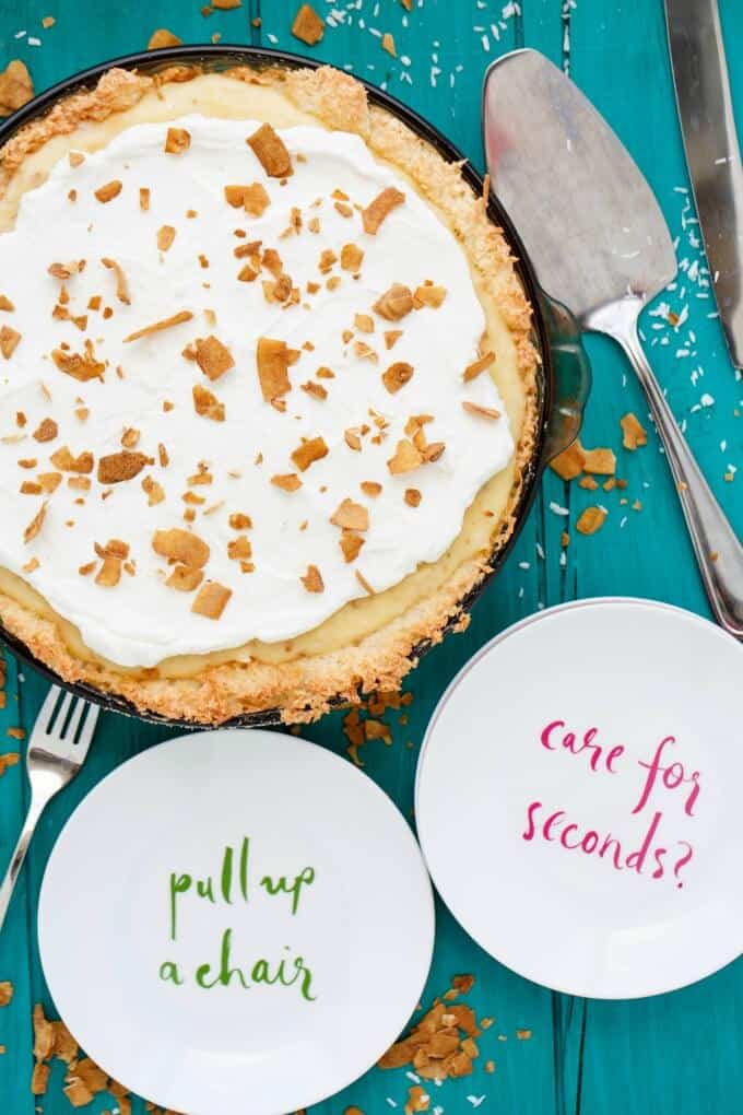 Gluten-Free Coconut Cream Pie #pie