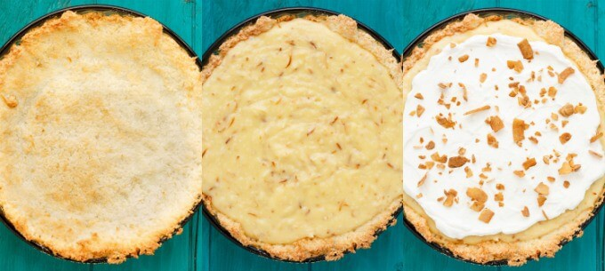 Gluten-Free Coconut Cream Pie #stepbystep