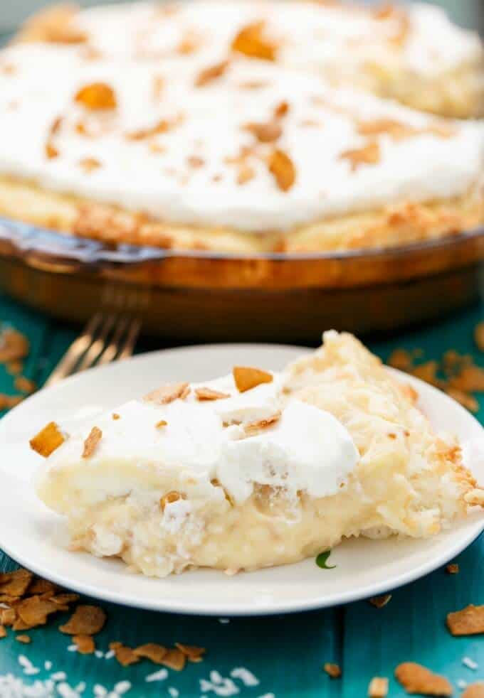 Gluten-Free Coconut Cream Pie #vegetarian