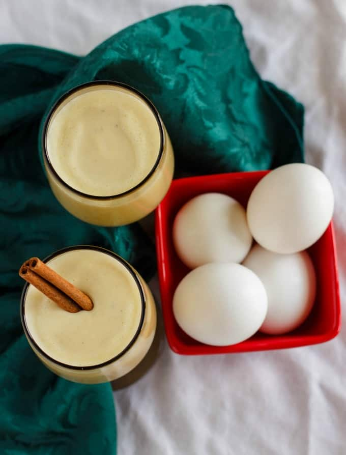 Homemade Eggnog using Leftover Egg Yolks #Christmas