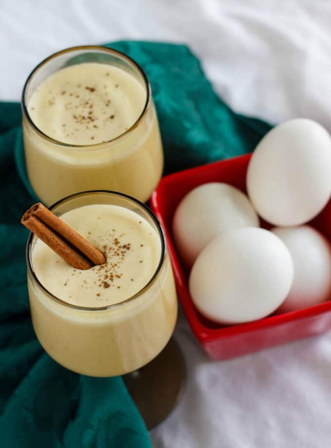 Homemade Eggnog using Leftover Egg Yolks #beverages