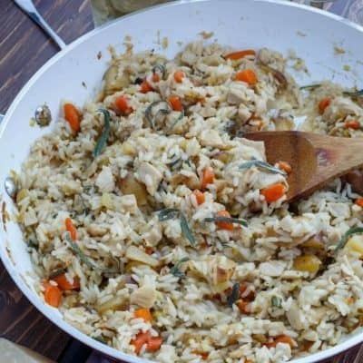 Leftover Thanksgiving Turkey Risotto