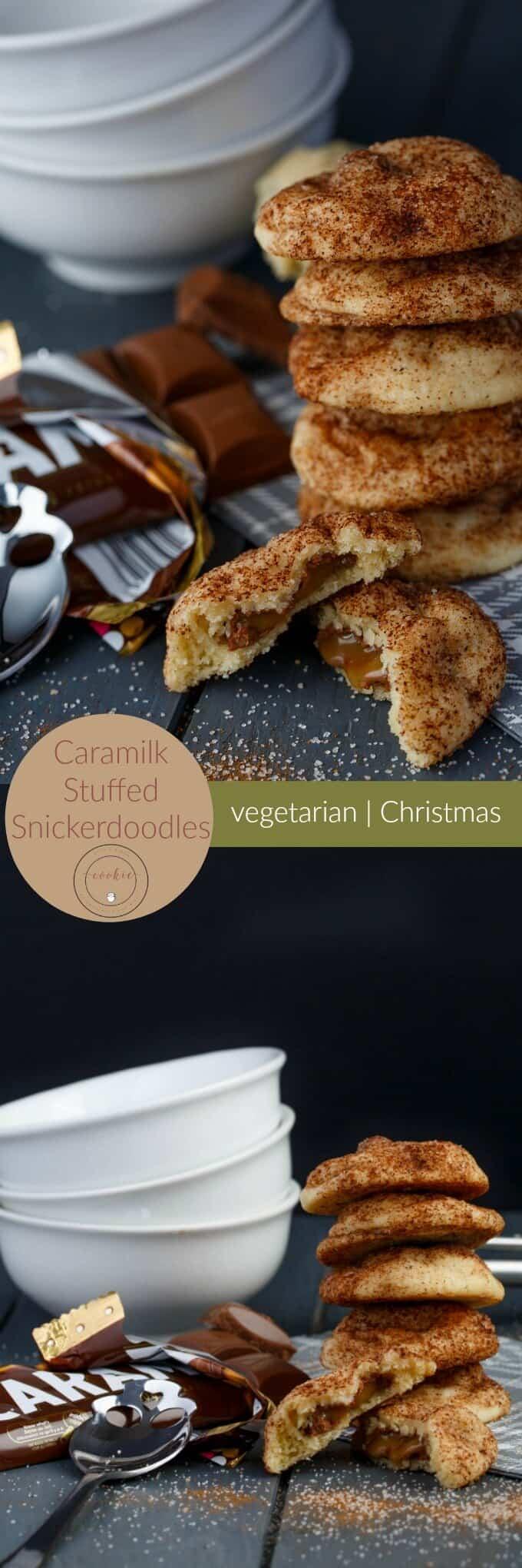 Caramilk Stuffed Snickerdoodles