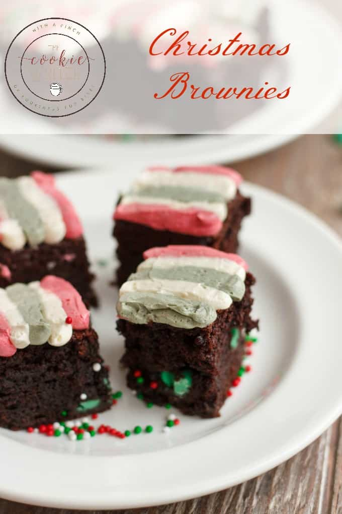 Christmas Brownies (Mint Chocolate Brownies) #dessert