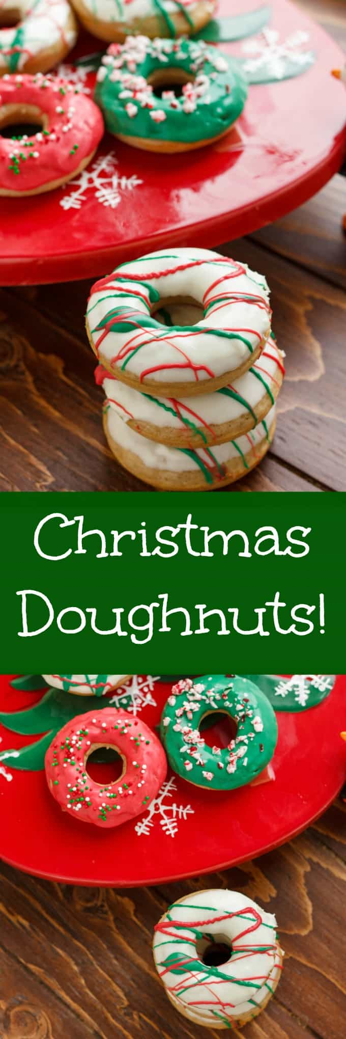 Christmas Doughnuts with Candy Melts Glaze
