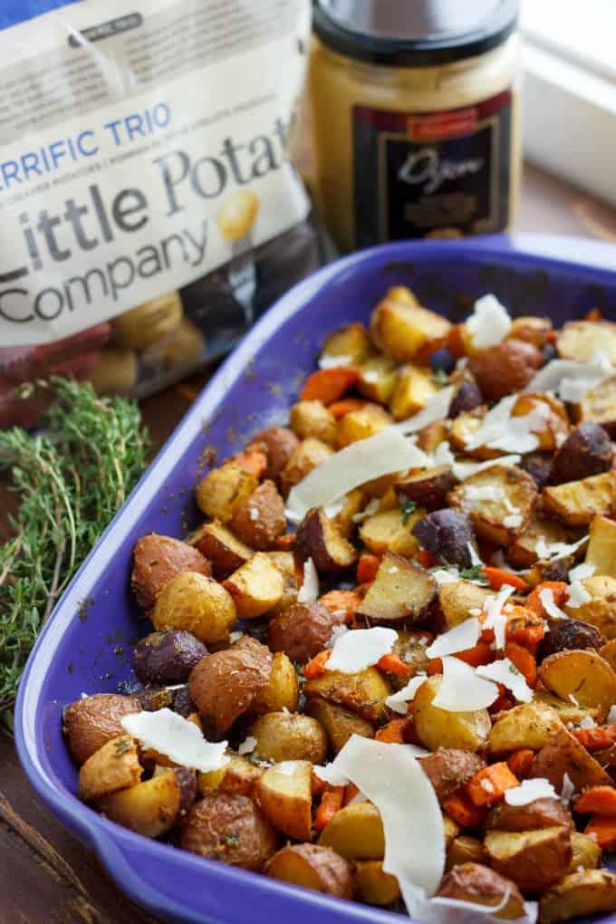 Roasted Dijon Potatoes #littlepotatocompany
