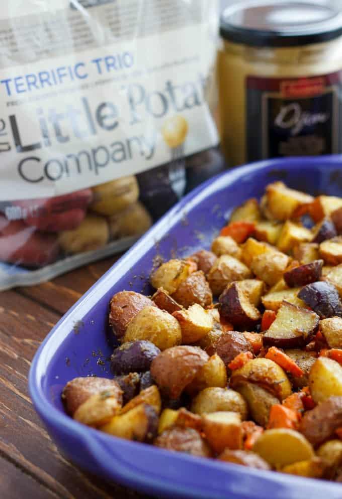 Roasted Dijon Potatoes #potatoes
