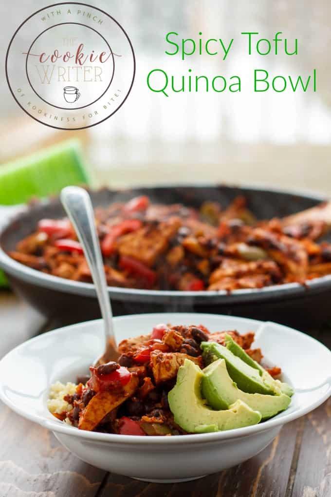 Spicy Tofu Quinoa Bowl #healthy