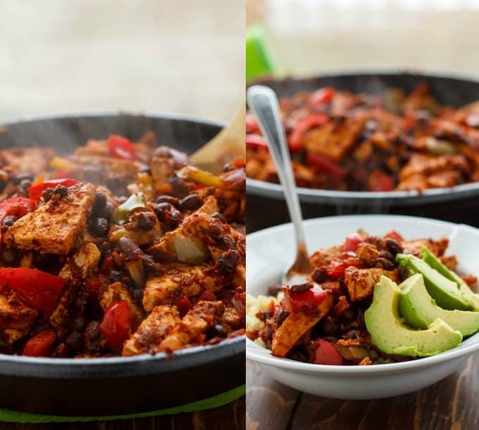 Spicy Tofu Quinoa Bowl #tofu