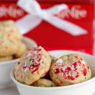 Vegan Shortbread Cookies with Crushed Candy Cane