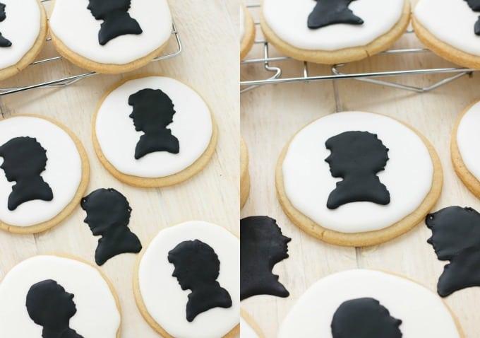 Royal Icing Sherlock Cookies (Cookie Geek #1) #cookiegeek