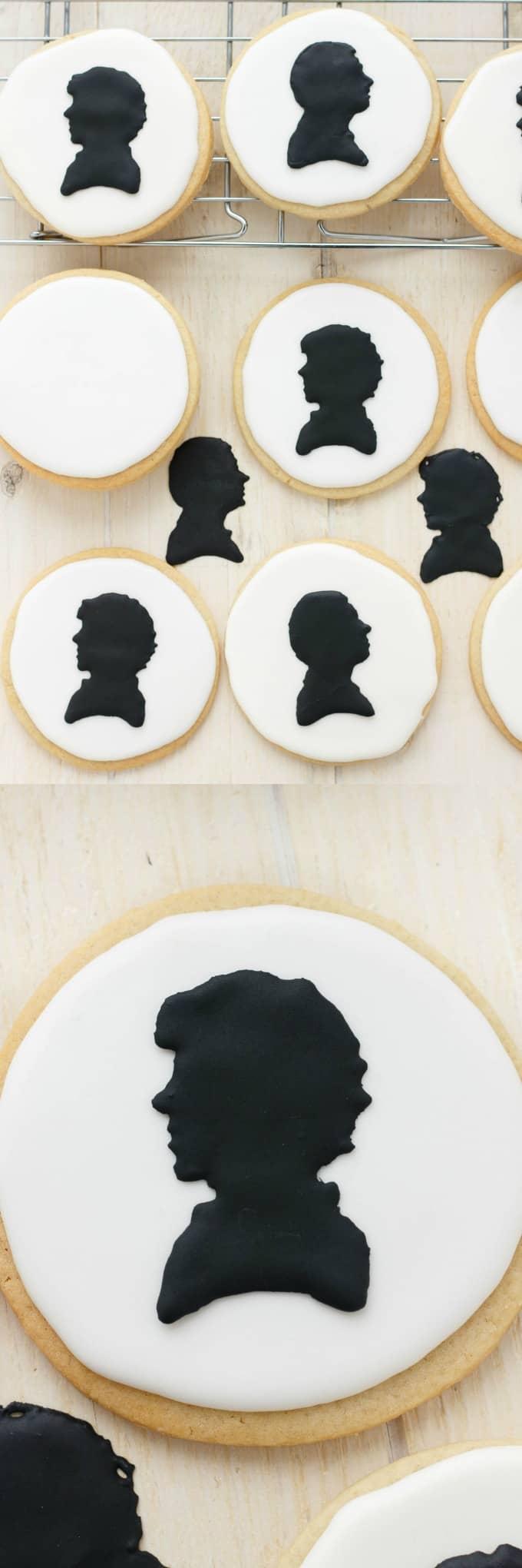 Royal Icing Sherlock Cookies (Cookie Geek #1) #royalicing
