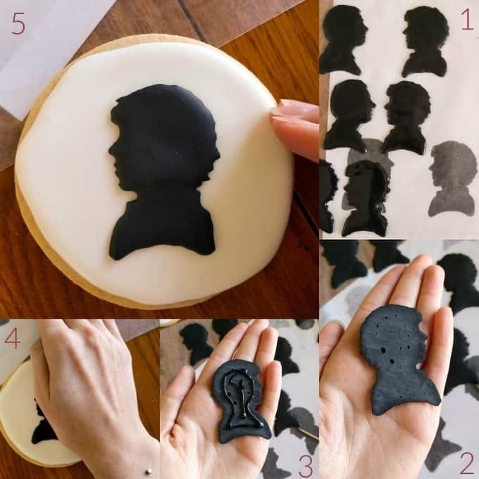 Royal Icing Sherlock Cookies (Cookie Geek #1) #stepbystep