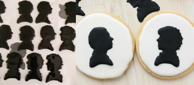 Royal Icing Sherlock Cookies (Cookie Geek #1) #transfer
