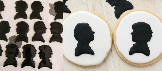 Royal Icing Sherlock Cookies (Cookie Geek #1) #transfer