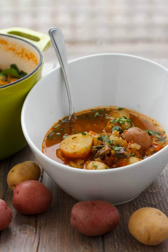 Simple Vegetable Soup with Creamer Potatoes #lunch #easy