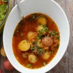 Simple Vegetable Soup with Creamer Potatoes