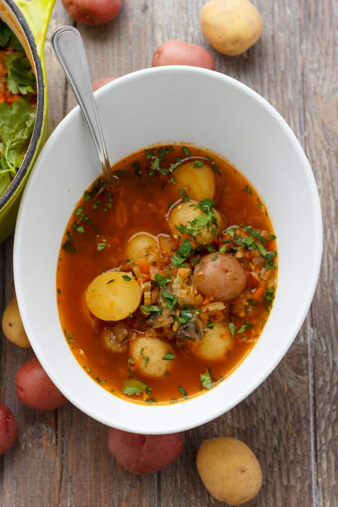 Simple Vegetable Soup with Creamer Potatoes #soup #healthy