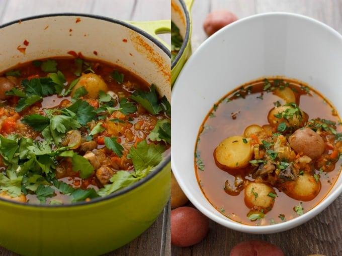 Simple Vegetable Soup with Creamer Potatoes #vegan