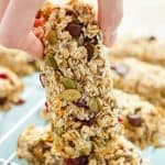 Three Ingredient Banana Granola Bars