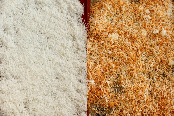 Tutorial How to Make Toasted Coconut #beforeandafter