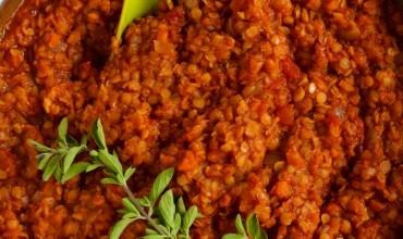 Vegetarian Lentil Bolognese Sauce (Vegan)