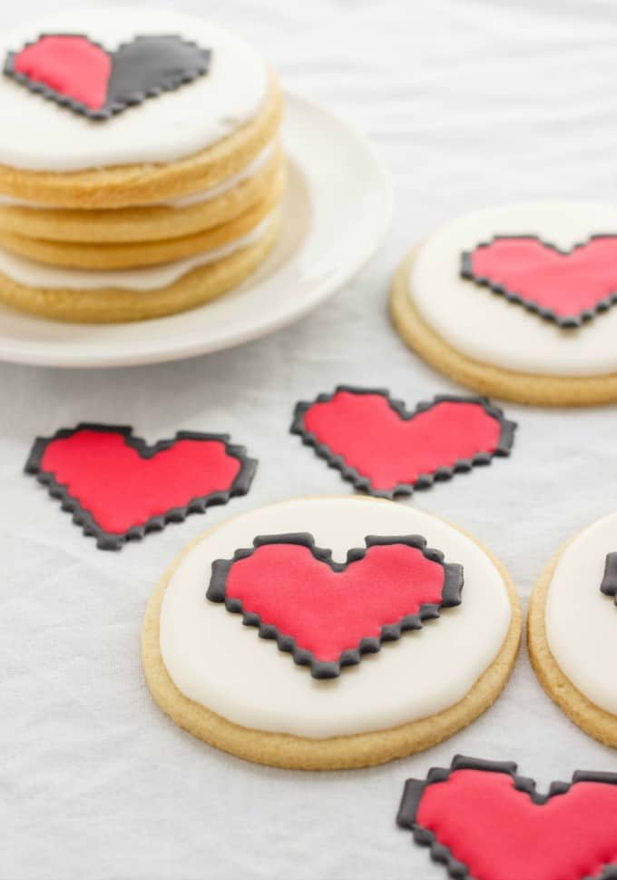 8 Bit Heart Cookies (No Special Cookie Cutter Necessary!) (Cookie Geek #2) #8bit