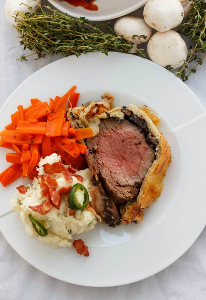 Beef Wellington with Bacon and Button Mushrooms #beef