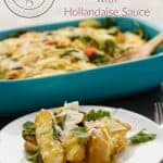 Breakfast Potato Casserole with Hollandaise Sauce