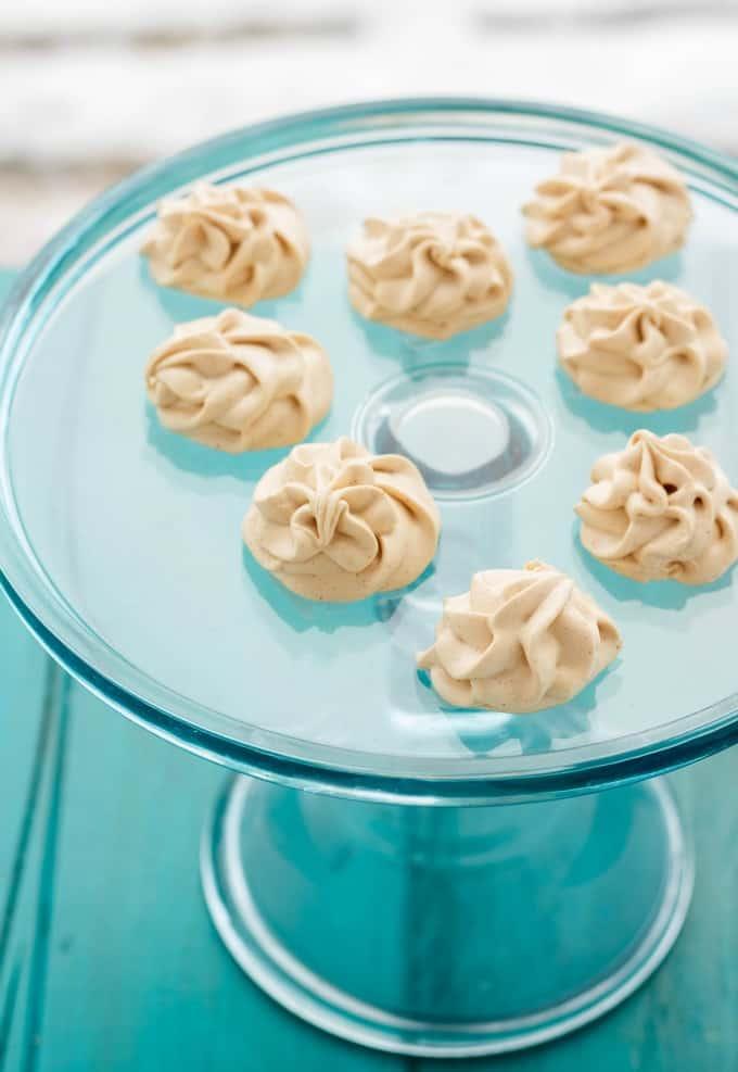 Skinny Frozen Peanut Butter Whips #vegetarian