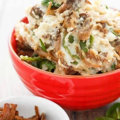 Caramelized Onions and Mushroom Mashed Potatoes