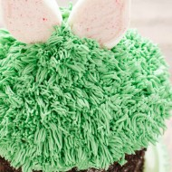 Giant Cupcake for Easter (Bunny Hiding in the Grass)