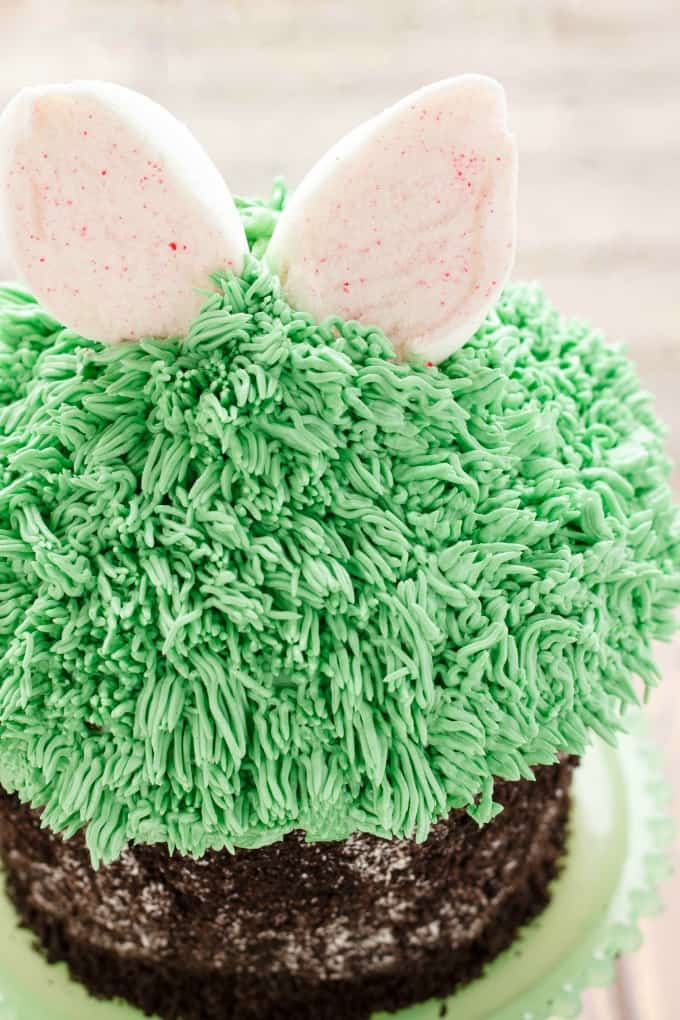 Giant Cupcake for Easter (Bunny Hiding in the Grass) #giantcupcake