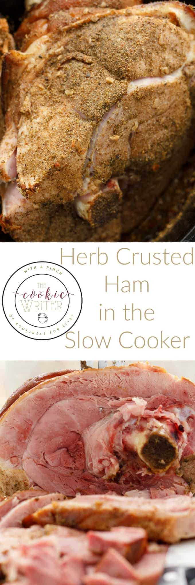 Herb Crusted Ham in the Slow Cooker #slowcooker