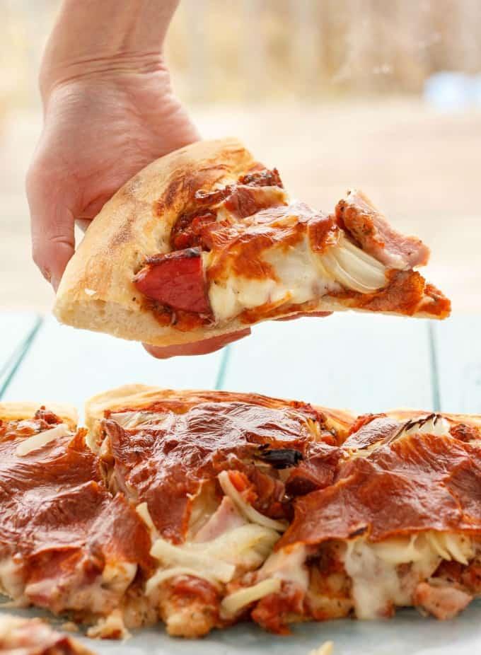 Leftover Ham Pizza #leftovers