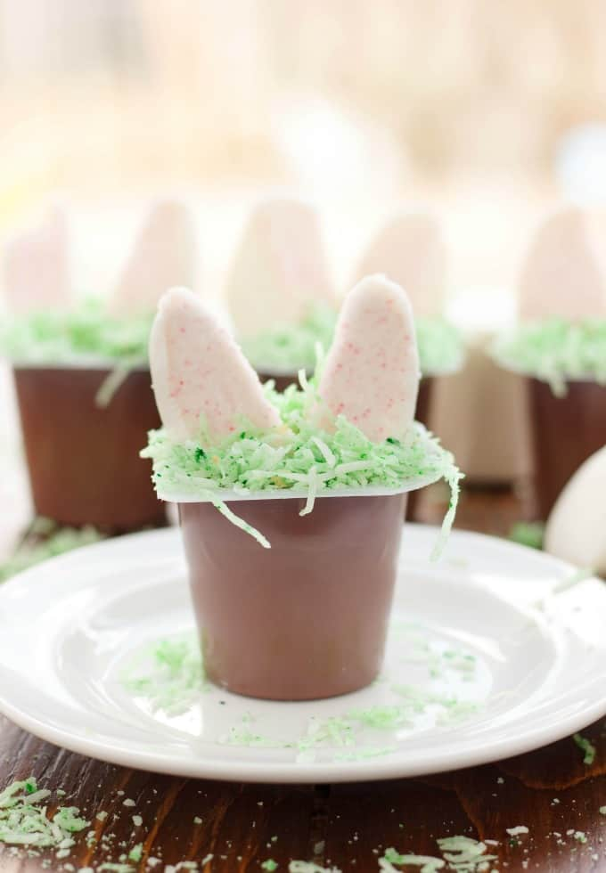 Marshmallow Bunny Ear Pudding Cups #glutenfree