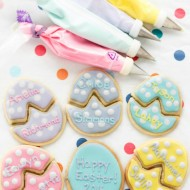 Royal Icing Easter Egg Puzzle Cookies