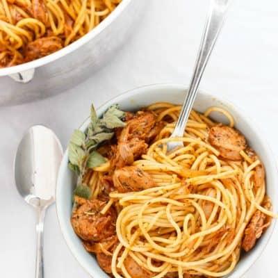 Dry Herb Sausage Spaghetti