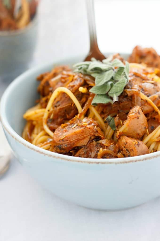Dry Herb Sausage Spaghetti #pork