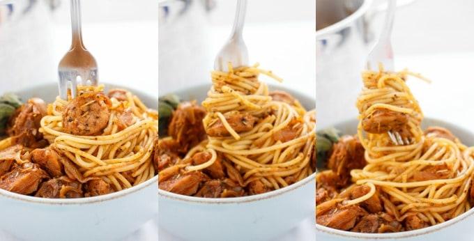 Dry Herb Sausage Spaghetti #twirl