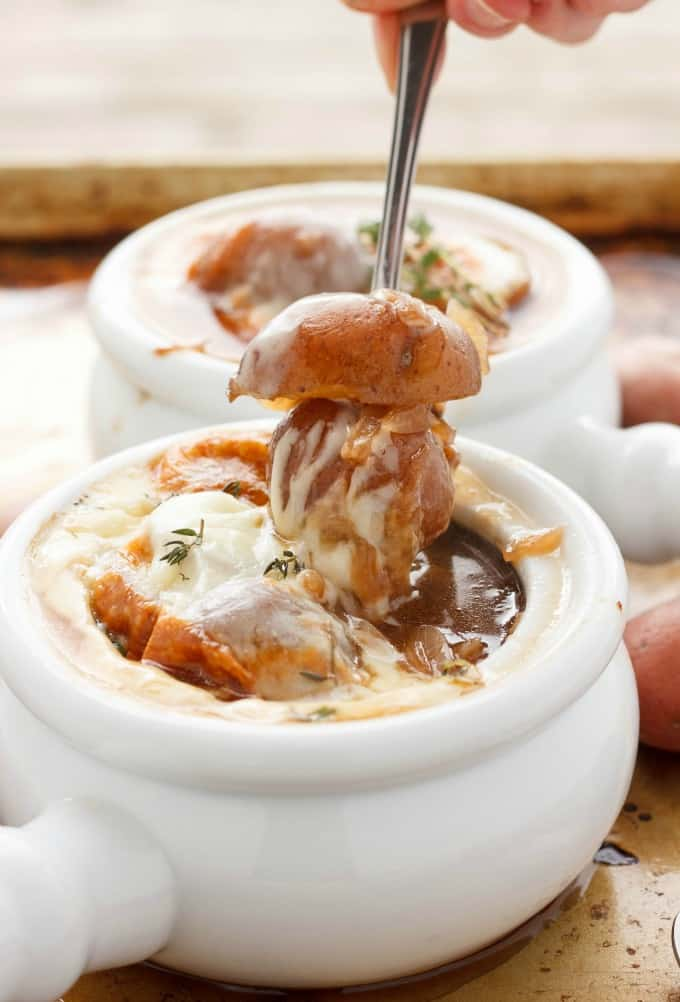 French Onion Soup with Potatoes #soup