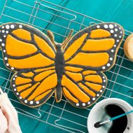 Giant Monarch Butterfly Cookie (No Cookie Cutter Needed!)