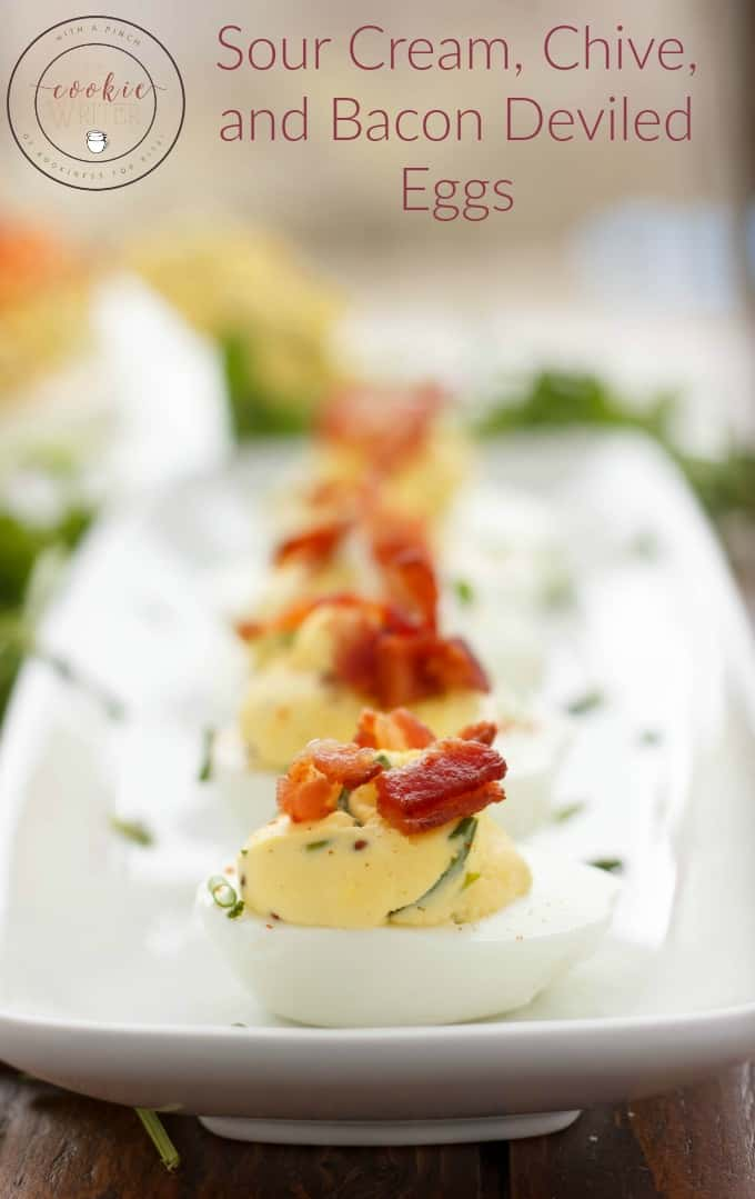 Sour Cream, Chive, and Bacon Deviled Eggs
