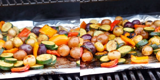 BBQ Potatoes and Vegetable Medley #beforeandafter