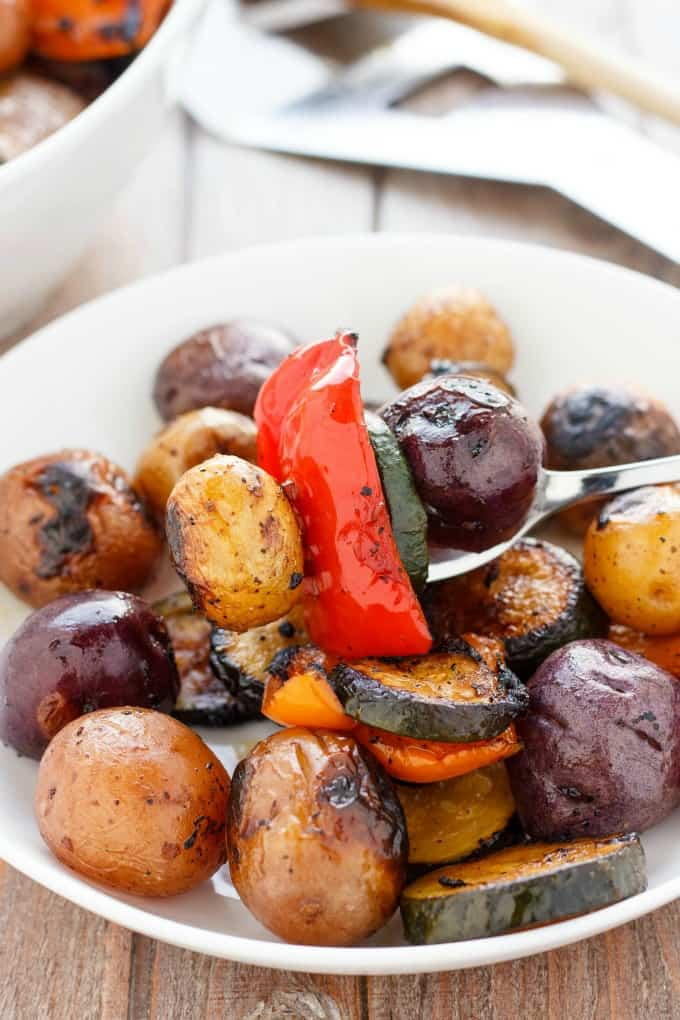 BBQ Potatoes and Vegetable Medley #glutenfree