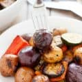 BBQ Potatoes and Vegetable Medley #vegan