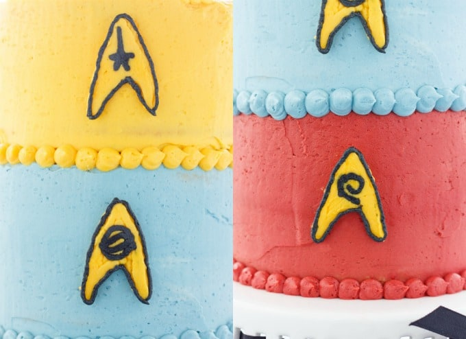 Buttercream Star Trek Cake (Cookie Geek #3) #layers