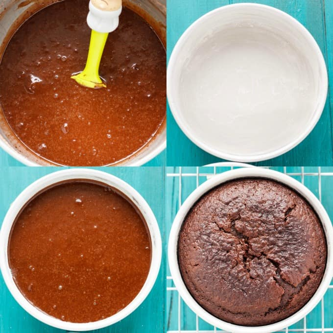 Chocolate Cake Recipe Tutorial from The Cookie Writer! #stepbystep